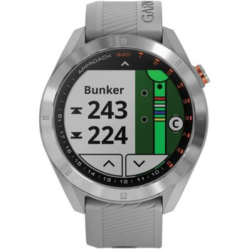 GARMIN Approach S40 Golf Watch with Powder Gray Silicone Band
