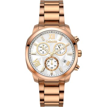 BREEZE Tresor Chronograph Rose Gold Stainless Steel Bracelet