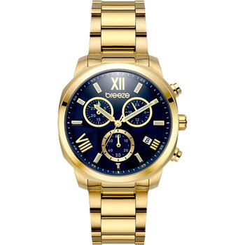 BREEZE Tresor Chronograph Gold Stainless Steel Bracelet