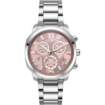 BREEZE Tresor Chronograph Silver Stainless Steel Bracelet