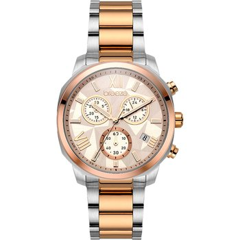 BREEZE Tresor Chronograph Two Tone Stainless Steel Bracelet