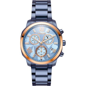 BREEZE Tresor Chronograph Blue Stainless Steel Bracelet