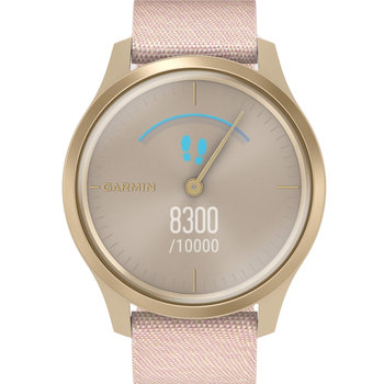 GARMIN Vivomove Style Blush Pink Nylon with Light Gold Hardware