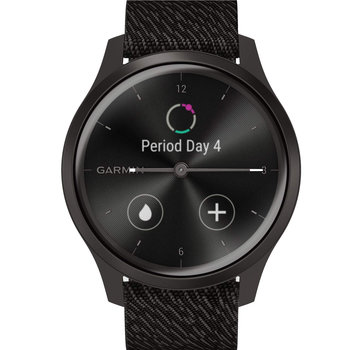 GARMIN Vivomove Style Black Pepper Nylon with Slate Hardware