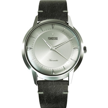 FONDERIA The Professor II Automatic Black Leather Strap