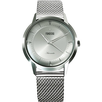 FONDERIA The Professor II Automatic Silver Stainless Steel Bracelet