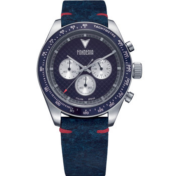 FONDERIA Saltspeeder Chronograph Blue Leather Strap