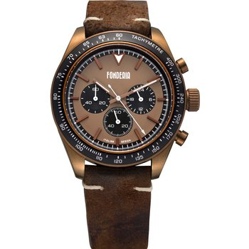 FONDERIA Saltspeeder Chronograph Brown Leather Strap