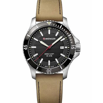 WENGER Seaforce Brown Leather Strap