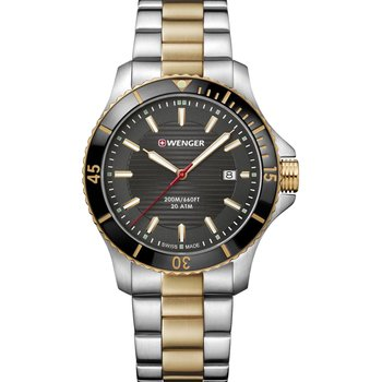 WENGER Seaforce Two Tone Stainless Steel Bracelet