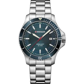 WENGER Seaforce Silver Stainless Steel Bracelet