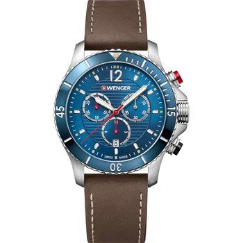 WENGER Seaforce Chronograph Brown Leather Strap