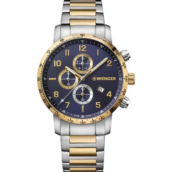 WENGER Attitude Chronograph Two Tone Stainless Steel Bracelet