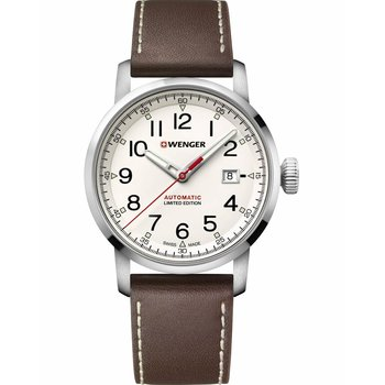 WENGER Attitude Limited Edition Automatic Brown Leather Strap