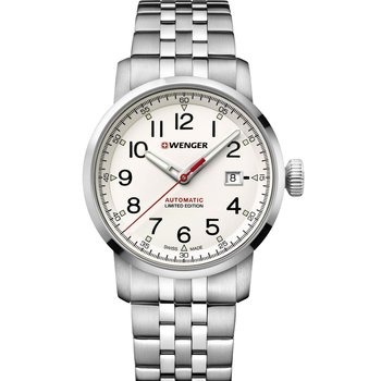 WENGER Attitude Limited Edition Automatic Silver Stainless Steel Bracelet