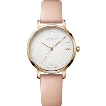 WENGER Metropolitan Donnissima Crystals Pink Leather Strap