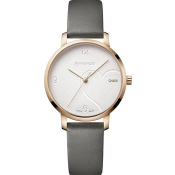 WENGER Metropolitan Donnissima Crystals Grey Leather Strap