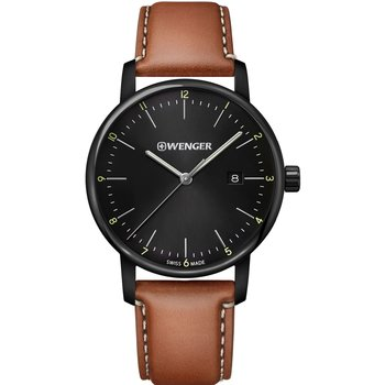 WENGER Urban Classic Brown Leather Strap