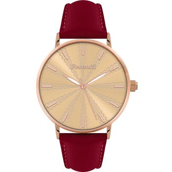 FERENDI Sand Red Leather Strap