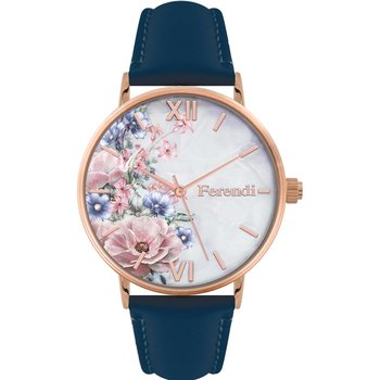FERENDI Rodoessa Blue Leather Strap