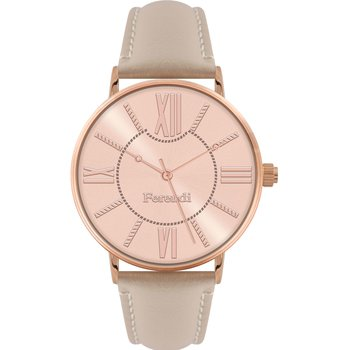 FERENDI Comely Beige Leather Strap