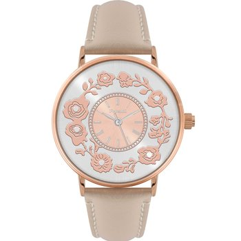 FERENDI Flare Beige Leather Strap