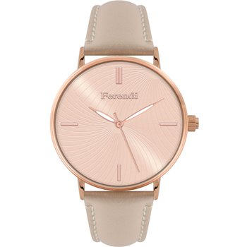 FERENDI Vertigo Beige Leather Strap