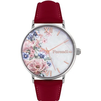 FERENDI Rodoessa Red Leather Strap