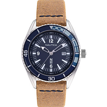NAUTICA N83 Urban Surf Brown Leather Strap
