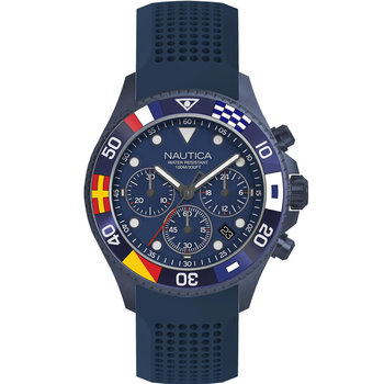 NAUTICA Westport Flags Chrono Blue Silicone Strap