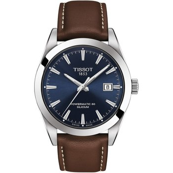 TISSOT T-Classic Gentleman Automatic Brown Leather Strap