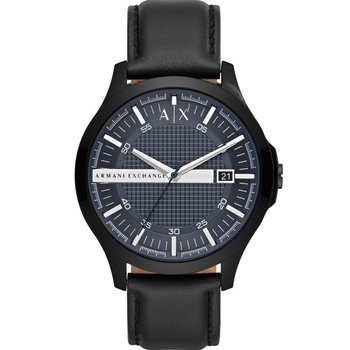 ARMANI EXCHANGE Hampton Black Leather Strap