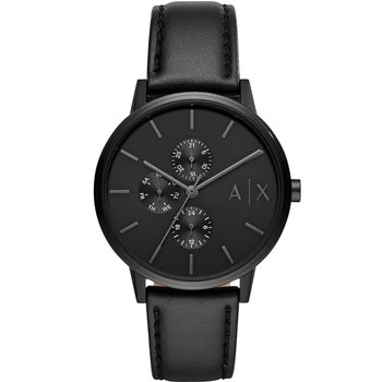 ARMANI EXCHANGE Cayde Black Leather Strap