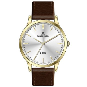 DANIEL KLEIN Mens Brown Leather Strap