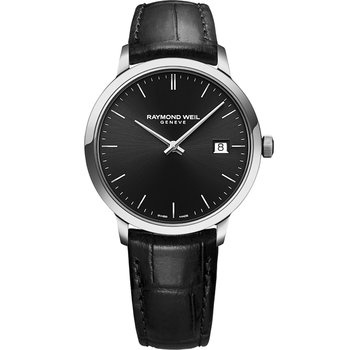 RAYMOND WEIL Toccata Black Leather Strap