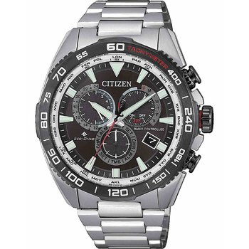 CITIZEN Promaster Eco-Drive Chronograph Silver Stainless Steel Bracelet