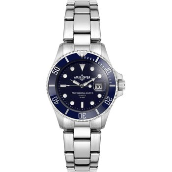 AQUADIVER Water Master Ladies Silver Stainless Steel Bracelet 300M