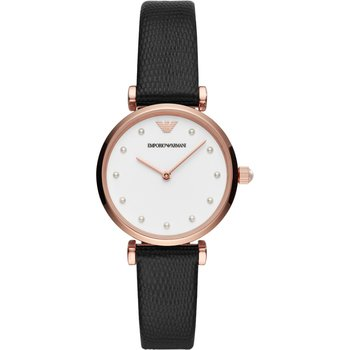 Emporio ARMANI Black Leather Strap