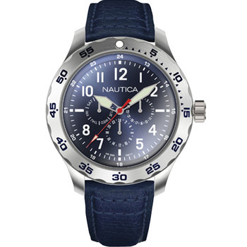 NAUTICA NCC01 Blue Leather Strap