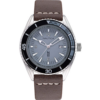 NAUTICA Urban Surf Brown Leather Strap