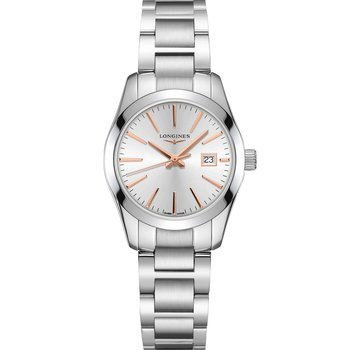 LONGINES Conquest Silver Stainless Steel Bracelet