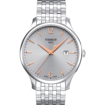 TISSOT T-Classic Tradition Silver Stainless Steel Bracelet