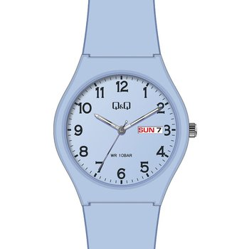 Q&Q Ladies Blue Silicone Strap