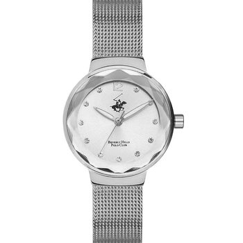 Beverly Hills Polo Club Ladies Crystals Silver Stainless Steel Bracelet