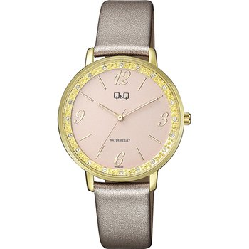 Q&Q Ladies Crystals Rose Gold