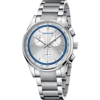 CALVIN KLEIN completion chronograph silver stainless steel bracelet