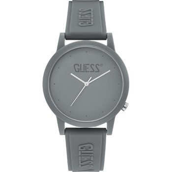 GUESS Ladies Grey Rubber Strap