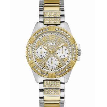 GUESS Ladies Crystals Two Tone Stainless Steel Bracelet