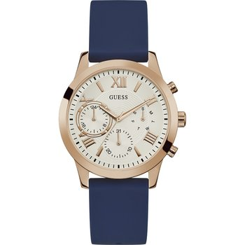 GUESS Ladies Blue Rubber Strap