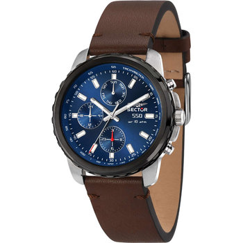 SECTOR 550 Brown Leather Strap